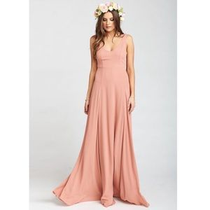 Show Me Your Mumu Jenn VNeck Maxi Gown Dusty Mauve